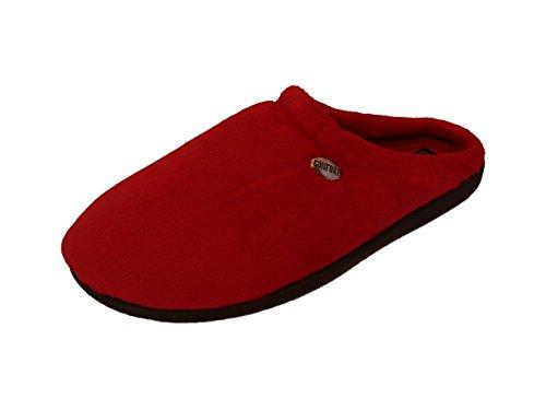 Damen Pantoffeln aus weichem Samt, erhältlich in verschiedenen Farben Rot