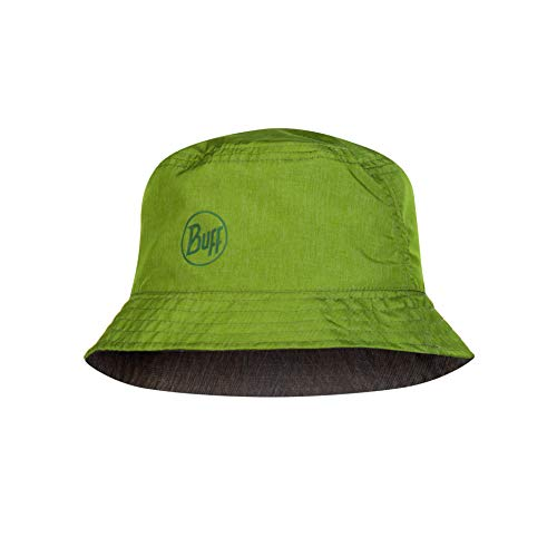Buff Erwachsene Travel Bucket Hat, Shady Khaki, One Size - Reversible Hut