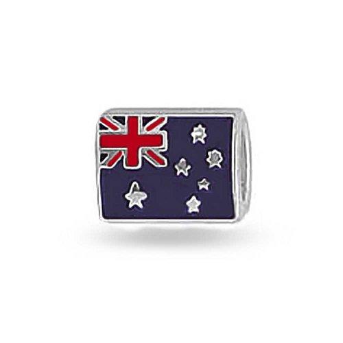 Bling Jewelry australische Flagge aus 925er Sterling-Silber Charm Bead (Sammlung Stück Gespräch)