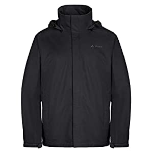 VAUDE Men's Escape Light Rain Jacket - Lightweight Waterproof Jacket with Mesh Lining - Ideal Raincoat for Hiking, Camping or Cycling - Black