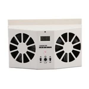SLB Works Brand New New Auto Ventilation Car Cooler Solar Powered Exhaust Fan White