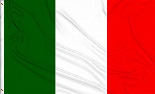 MLIAN Fahne Italien 150x90cm Groß Italienische Flagge mit 2 Messing-Ösen