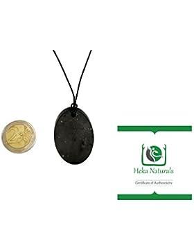 Schungit Anhänger Oval Halsband: Garantiert authentisch höchste Qualität Russische Naturheilung Stein aus Karelia...