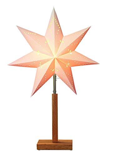 Star 232-00Karo Stern auf Basis Mini Holz/Papier beige/eiche 55x 34cm