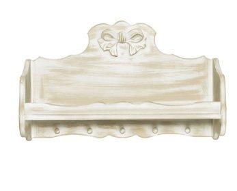 Portabarattoli in legno stile vintage con fiocco centrale disonibile in diverse rifiniture L'ARTE DI NACCHI 7396F/PV