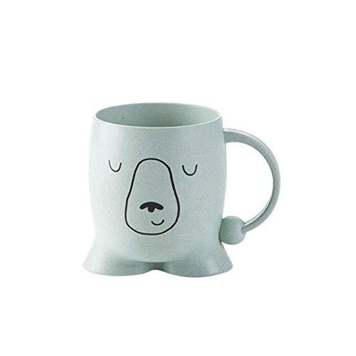 DYTJ-Mugs Zahn Becher Kaffee Tee Weizen Stroh Halter Bad Milch Baby Kinder Waschen Heimgebrauch Niedlichen Cartoon Umweltfreundliche Zahnbürste Tasse Für Wasser, Grün, China -