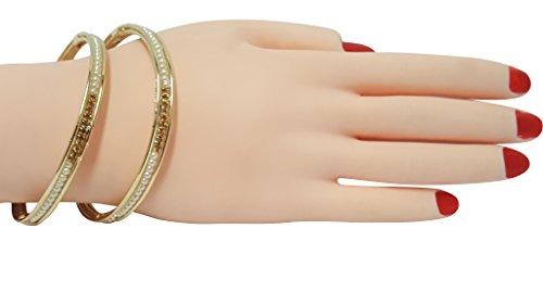 Bracelet de perle d'or Bracelet de main de chaîne de main de Kangan Bracelet (Pb-11505) golden