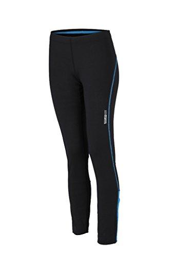 Ladies 'per Running da donna pantaloni da corsa * Colore: Colori assortiti * Taglia XS a XXL Nero - black/atlantic