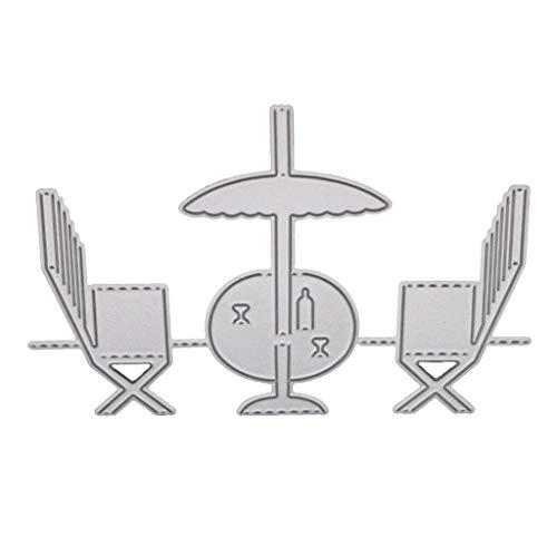 Huijun Stanzschablone für Stühle, DIY Scrapbooking Prägung Papier Karte Home Dekoration