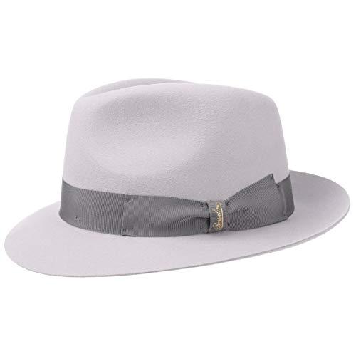 Borsalino Cappello Finissimo Twotone Fedora Uomo di Feltro 57 cm -  Beige-Grigio 953b0abab3a6