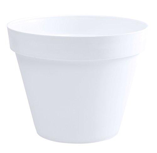 EDA Plastiques Pot TOSCANE blanc Ø40 x H.32 cm - 23 L