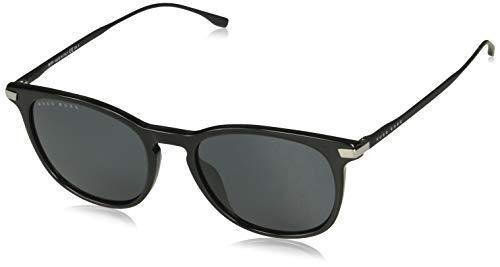BOSS Hugo Sonnenbrillen (BOSS-0987-S 807/IR) schwarz - matt schwarz - blau-grau