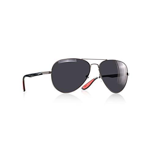 Sportbrillen, Angeln Golfbrille,BRAND DESIGN Classic Polarisiert Sunglasses Men Women Driving Pilot Frame Sun Glasses Male Goggle UV400 Gafas De Sol AF8186 C2Gun Bright