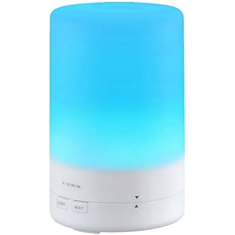 Topop 180ml Aroma Aceite Esencial Humidificador difusor Whisper-Tranquilo Ultrasónico de Vapor frío Con 7 colores LED luces cambiantes ,sin Agua Apagado Automático para Casa y Ministerio del Interior Dormitorio.