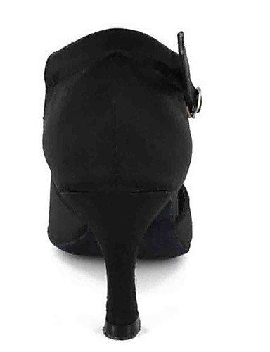 ShangYi Chaussures de danse(Noir / Bleu / Autre) -Personnalisables-Talon Personnalisé-Similicuir-Latine Peach