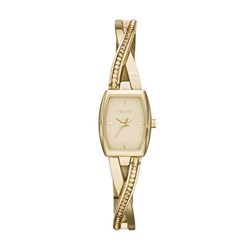 DKNY NY2237 - Reloj de cuarzo con correa de acero inoxidable para mujer, color dorad