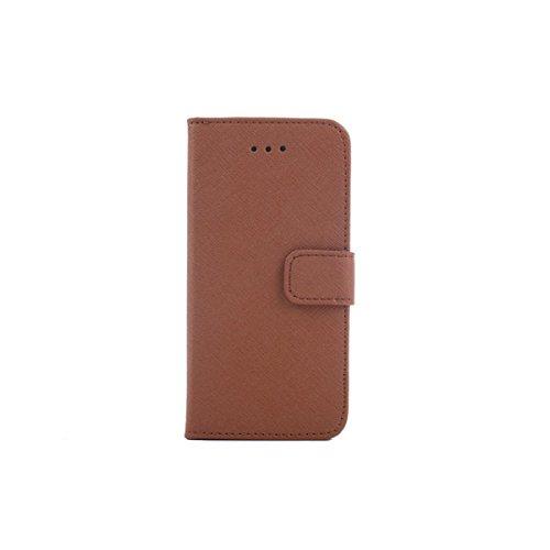 Case Design Lignes Cross Pattern PU cuir Wallet pour iPhone 6 noir