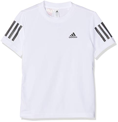 adidas Jungen Club 3-Stripes T-Shirt, White/Black, 164 -