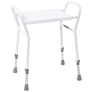 NRS Healthcare Shower Stool with Handles (Eligible for VAT Relief in The UK)