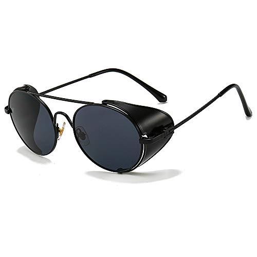 BlueAurora Mode Sonnenbrillen Frauen, UV400 Steam Punk Sonnenbrille für Damen Alltag und Reisen, schwarz