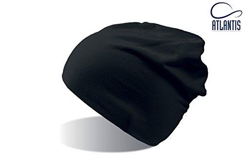 FLASH NERO LONG BEANIE HAT cuffia in Cotone lunga cappello BERRETTO IN MAGLIA