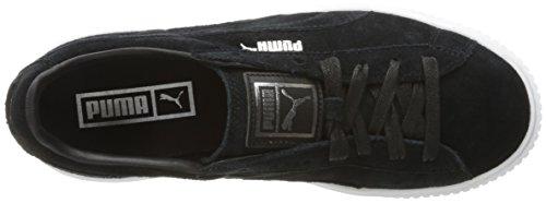 Puma Frauen-Veloursleder-Plattform-Schuhe Puma Black-Puma White