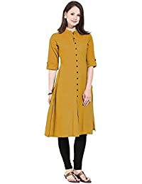 Vastraa Fusion Khadi Cotton Solid Women Casual Kurti - Available In 30 Colours And 9 Sizes Each