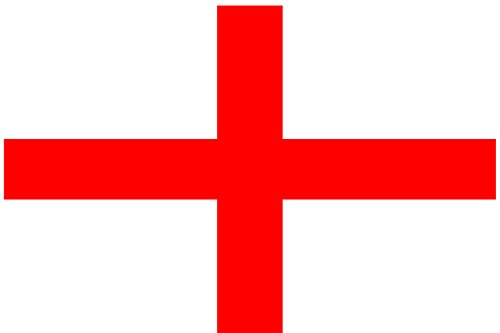 Fahne Flagge Hissfahne mit 2 Metallösen zur Befestigung und zum Hissen - Größe 90 x 150 cm Nationalfahne WM EM Garten Deko Gastronomie Weltmeisterschaft Europameisterschaft national (England)