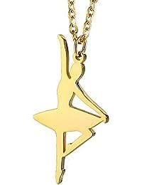 BOBIJOO Jewelry - Pendentif Collier Danseuse Classique Pointe Ballet Acier  Doré Plaqué Or + Chaîne 6f133c84fa0