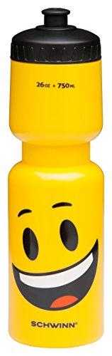 Schwinn Emoticon Wasser Flasche mit Smiley, 26oz, gelb (Wasser Flasche Schwinn)