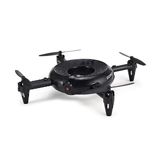 TAOtTAO Donut vierachsige Luftfahrzeug-Drohne 300.000 Pixel + WLAN + Feste Höhe, Intelligenter Donut RC Quadcopter 0.3MP HD Kamera WiFi FPV Höhenstand LED Taschen-Drohne (Schwarz) Alpha Digital Digital Digital Kamera