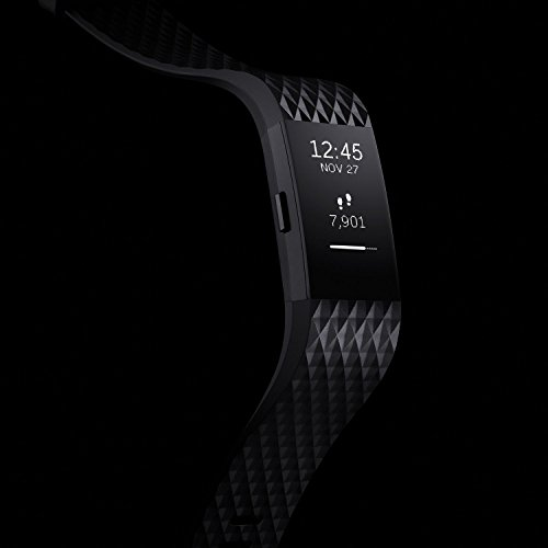 Fitbit Charge 2 Activity Tracker with Wrist Based Heart Rate Monitor – Gunmetal/Large