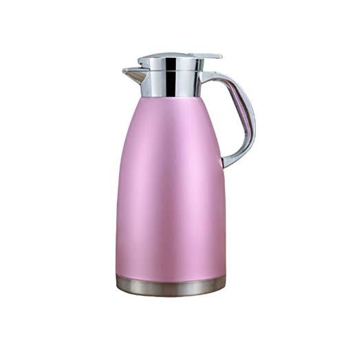 WLHW Trinkflaschen Isoliertopf 2.3L Edelstahl 304 Kleiner Wasserkocher Kaffeekanne Thermos Haushaltskessel Dauerhaft Geeignet Für Kaffee, Getränke (Farbe : Pulver)