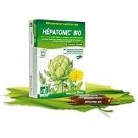 HEPATONIC BIO est un dépuratif hépatique spécifique et complet pour vous aider à réguler la vésicule biliaire avec l'Artichaut et le Radis noir à décongestionner le foie avec la Fumeterre, le Boldo, le Romarin, le Pissenlit et le Curcuma à stimuler l...