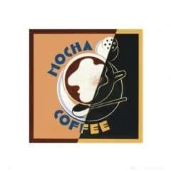 Coffee - Mocha Café - Art Print - 40X40 Cm Affiche / Poster