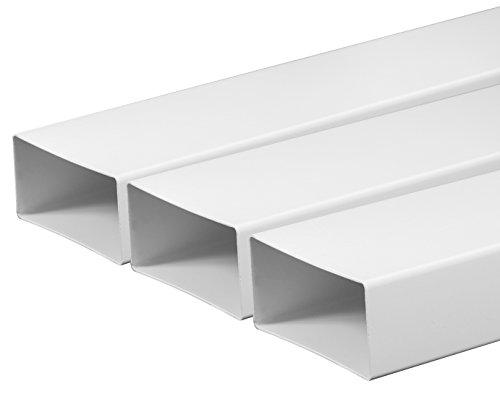 Tubo di ventilazione canali 55 X 110 mm lunghezza 0,5 m in plastica Canale piatto Canale di scarico del tubo del condotto di scarico Cappa Aspirante plastica piatto canali, sistemi 50 cm lungo ad innesto tubo tondo