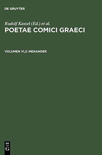 Poetae comici graeci: menander : testimonia et fragmenta apud scriptores servata: 6