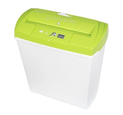 Genie 250 CD Aktenvernichter (bis zu 7 Blatt, Streifenschnitt, mit CD-Shredder, Inkl. Papierkorb) grün/weiß