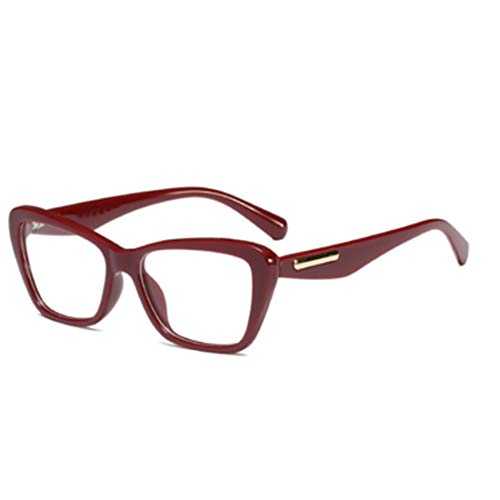 IOSHAPO Mode Retro Weibliche Nerd Brille Platz Großen Rahmen Große Transparente Linse Lesen Alten Spiegelrahmen Gläser