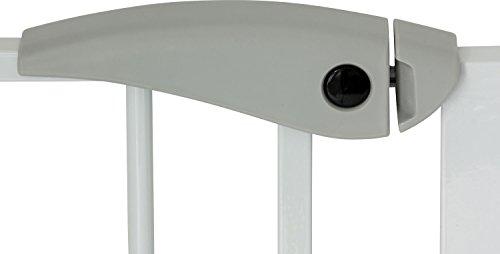 IB-Style - Treppengitter / Türgitter BERRIN | Erweiterbar durch Verlängerungen | 75 - 175 cm | Auto-Close - automatisches Schließen | Metall Weiß| Spannbreite 75 - 85 cm - 4