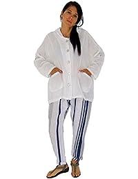 Mein Design Lagenlook de Mallorca Damen Jacke HM100 Cardigan Coat Oversize  Kapuze Leinen Gr. 36 b9a12a6131