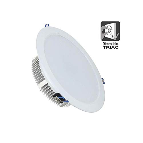 FactorLED Downlight LED Circular 50W (4500Lm) Empotrable, Dimmable TRIAC 120º, Foco de...