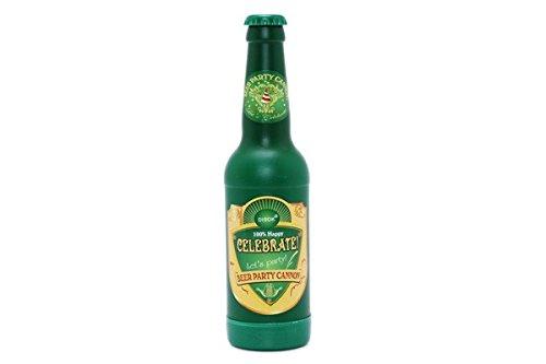 Disok Vergoldete Konfettikanone in Form einer Bierflasche, mehrfarbig (9163)