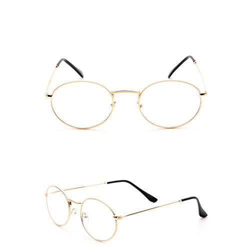 QBMWFC Candy Color Ocean Lenses Sonnenbrille Damen/Herren Ovale Brille Lady Luxury Retro Sonnenbrille Vintage Mirror, Gold WhiteGold White