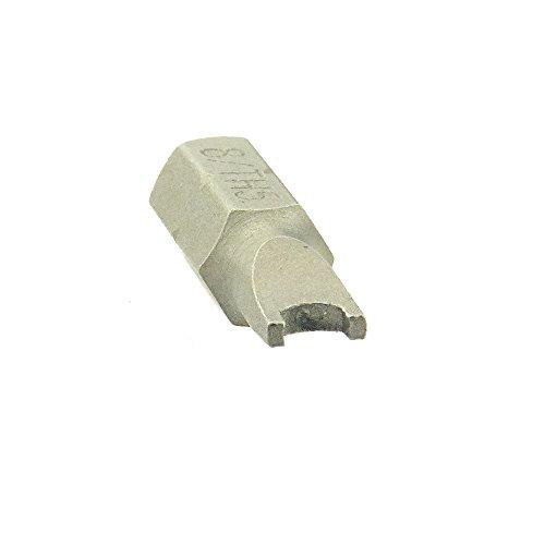 Spezial-Bits f. diebstahlhemmende Schrauben m. Snake Eye Antrieb Stahl blank - M 5 - 1 Stück (Eyes 5 Snake)