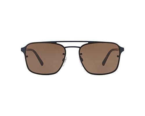 BURBERRY Herren 0BE3095 12615W 56 Sonnenbrille, Blau (Matte Blue/Brown)