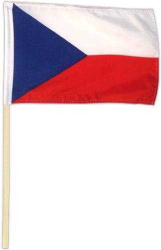Fahne Flagge Tschechien 30 x 45 cm mit Stab