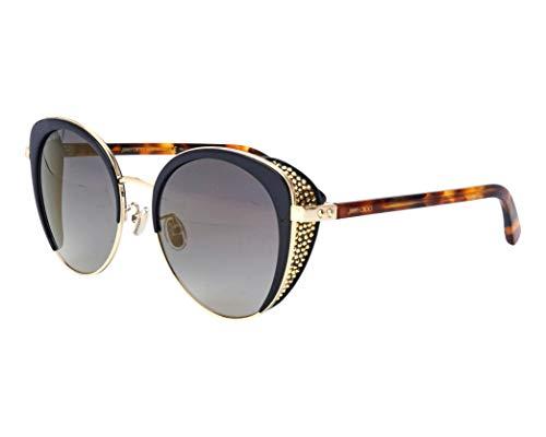 Jimmy Choo Sonnenbrillen (GABBY-F-S 2M2FQ) gold - schwarz - blau-grau verlaufend mit verspiegelt effekt