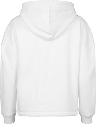 Urban Classics TB1725 Damen Kapuzenpullover Ladies Kimono Hoodie - Oversize Kapuzensweatshirt mit Tunnelzug an Kapuze und Saum White