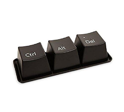 Kingwin 3 pcs Creative clavier Bouton Mug Ctrl Alt Del Tasses avec plateau (Noir)